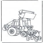 Ausmalbilder für Kinder - Bob's Wagen