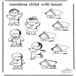 Malvorlagen Basteln - Boot und Kind