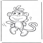 Ausmalbilder für Kinder - Boots der Affe