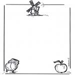 Malvorlagen Basteln - Briefpapier 1