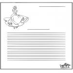 Malvorlagen Basteln - Briefpapier Aschenputtel