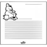 Malvorlagen Basteln - Briefpapier Bumba