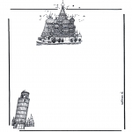 Malvorlagen Basteln - Briefpapier Gebäude