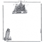 Briefpapier Gebäude