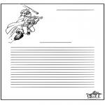 Malvorlagen Basteln - Briefpapier Harry Potter
