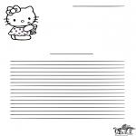 Malvorlagen Basteln - Briefpapier Hello Kitty