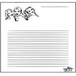 Malvorlagen Basteln - Briefpapier K3