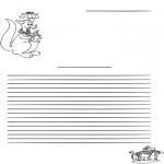Malvorlagen Basteln - Briefpapier Känguru