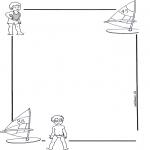 Malvorlagen Basteln - Briefpapier Kind