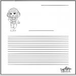 Malvorlagen Basteln - Briefpapier Mädchen