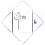 Malvorlagen Basteln - Briefumschlag Aschenputtel 1