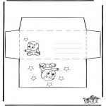Malvorlagen Basteln - Briefumschlag Baby