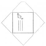 Malvorlagen Basteln - Briefumschlag  Dino