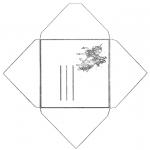 Malvorlagen Basteln - Briefumschlag Einhorn