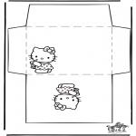 Malvorlagen Basteln - Briefumschlag Hello Kitty