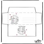 Malvorlagen Basteln - Briefumschlag Valentin