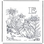 Allerhand Ausmalbilder - Buchstabe E