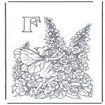 Allerhand Ausmalbilder - Buchstabe F