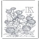 Allerhand Ausmalbilder - Buchstabe K