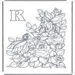 Allerhand Ausmalbilder - Buchstabe R