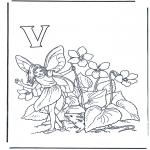 Allerhand Ausmalbilder - Buchstabe V