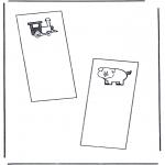 Malvorlagen Basteln - Buchzeichen 1