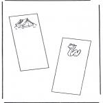 Malvorlagen Basteln - Buchzeichen 4