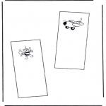 Malvorlagen Basteln - Buchzeichen 5
