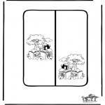 Malvorlagen Basteln - Buchzeichen 7