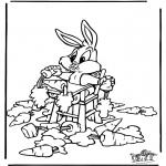 Ausmalbilder Comicfigure - Bugs Bunny 2
