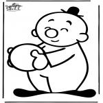 Ausmalbilder für Kinder - Bumba 12