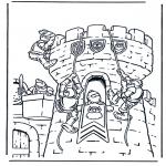 Allerhand Ausmalbilder - Burg 1