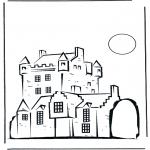 Allerhand Ausmalbilder - Burg 2