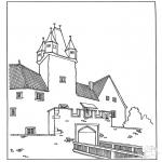 Allerhand Ausmalbilder - Burg 3