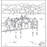 Allerhand Ausmalbilder - Burg 4