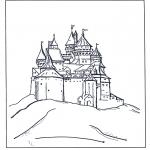 Ausmalbilder Comicfigure - Burg von  Disney