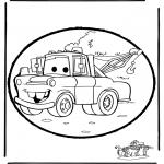 Basteln Stechkarten - Cars basteln kostenlos