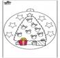 Christbaumkugel mit Weihnachtsbaum