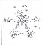 Allerhand Ausmalbilder - Clown springt
