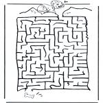 Malvorlagen Basteln - Dalmatiner Labyrinth