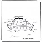 Allerhand Ausmalbilder - Dampfbot