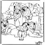 Bibel Ausmalbilder - Daniel in der Löwengrube 3