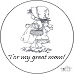 Malvorlagen Basteln - Danke Mama