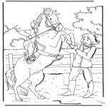 Ausmalbilder Tiere - Das Pferd bäumt sich