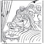 Bibel Ausmalbilder - das Töchterchen von Jairus 1