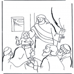 Bibel Ausmalbilder - das Töchterchen von Jairus 2