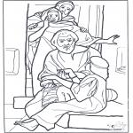 Bibel Ausmalbilder - das Töchterchen von Jairus  3