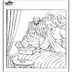 Bibel Ausmalbilder - das Töchterchen von Jairus 4