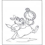 Ausmalbilder Comicfigure - Das weisse Kaninchen