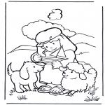 Bibel Ausmalbilder - David ist ein Hirte